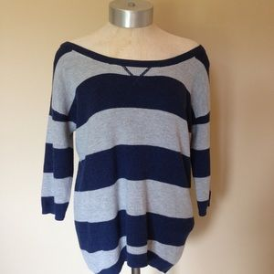 Aeropostale Striped Tight Knit oversized sweater
